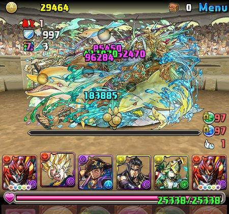 チャレンジダンジョン21 Lv8 ボス 覚醒エーギル撃破