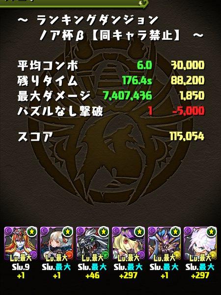 ノア杯β 11万5000点