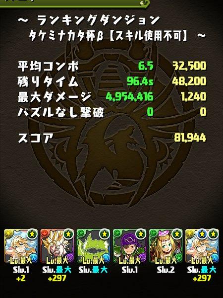 タケミナカタ杯β 覚醒サクヤパ 81000点
