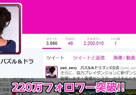 【日本で9位】公式Twitter・ムラコのフォロワーが220万を突破!